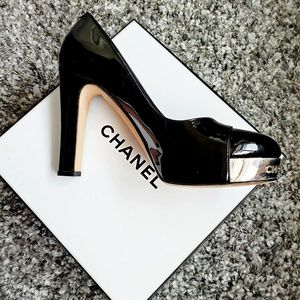 Chanel Patent Leather Platform Pump